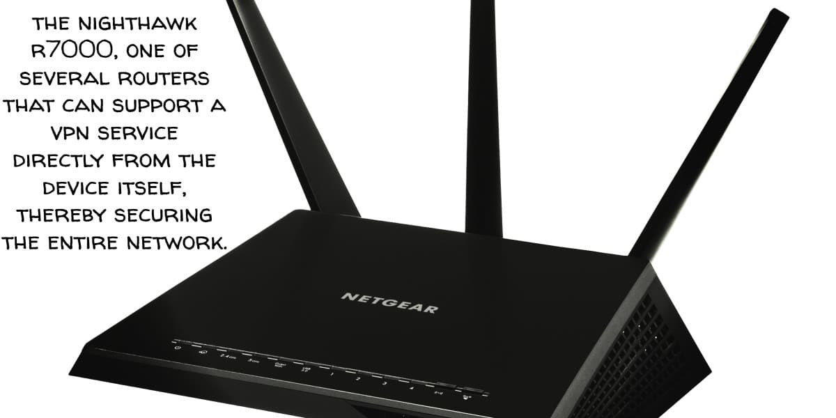 From the Wall Out--The sleek, black body of the Nighthawk R7000 dual-band router is dwarfed by its 3 angled antennae towering in the rear. It represents the key component in a wireless network. Like all hardware on the network, the router poses a significant security risk if not configured correctly.